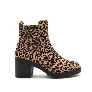 Cheetah Print Ankle Booties